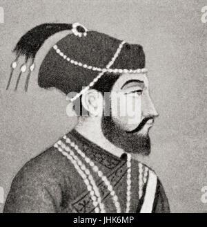 Mirza Shahabuddin Baig Muhammad Khan Shah Jahan, 1592  – 1666.  Fifth Mughal emperor,1628 to 1658.  From Hutchinson's - Stock Photo