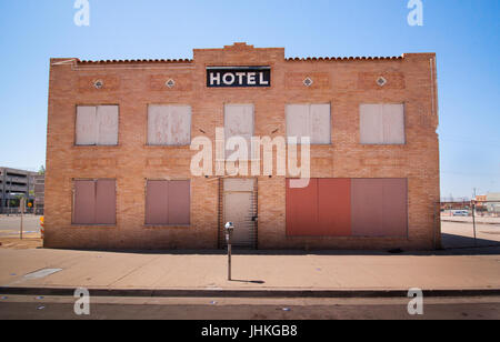 Abandoned St.James Hotel in Downtown Phoenix, AZ - Stock Photo
