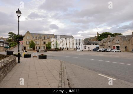 The Square, Castle Street, Dornoch, Scotland, UK - Stock Photo