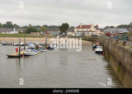 Small fishing boats and pleasure craft in the harbour at Balintore, Easter Ross, Scotland, UK - Stock Photo