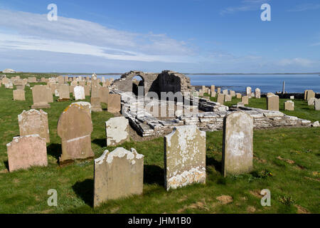 Orkney Islands, Westray, Tuquoy Church - Stock Photo