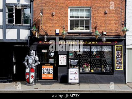The Abbey Tea Rooms, Tewkesbury, Gloucestershire, England UK - Stock Photo