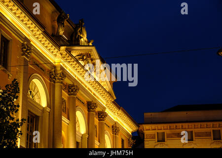 Lugano Town Hall, Switzerland - Stock Photo