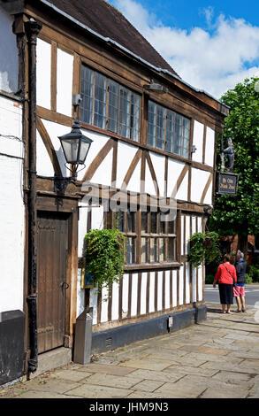 The Black Bear pub in Tewkesbury, Gloucestershire, England UK - Stock Photo