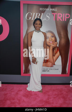 Los Angeles, California, USA . 13th July, 2017. Tiffany Haddish  07/13/2017 The World Premiere of 'Girls Trip' held - Stock Photo