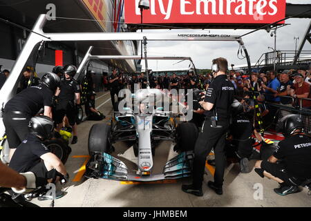 Silverstone, UK. 13th July, 2017. Motorsports: FIA Formula One World Championship 2017, Grand Prix of Great Britain, - Stock Photo