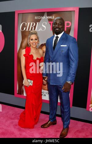 Los Angeles, CA, USA. 13th July, 2017.  Iva Colter, Mike Colter at the 'Girls Trip' Premiere at the Regal Cinemas - Stock Photo