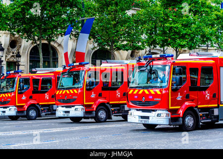 Paris, France. 14 Juy 17. French Military and Police put on a strong display on Bastille Day parade. Credit: Samantha - Stock Photo