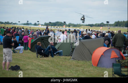 RAF Fairford, Gloucestershire, UK. 14th July 2017. First day of the Royal International Air Tattoo (RIAT), one of - Stock Photo