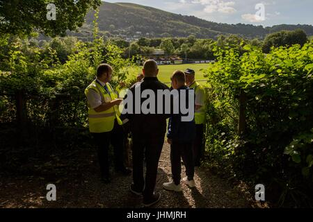 Taff's Well, Wales, UK. 15th July 2017. General view outside the ground ahead of the pre-season friendly match between - Stock Photo