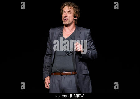 Wetzlar, Germany. 14th July, 2017. Ingolf Lück, German actor, presenter and comedian in his role as tabloid journalist - Stock Photo