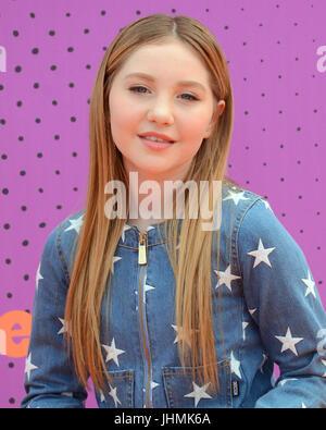 Ella Anderson attends 2017 Nickelodeon Kids' Choice Sports Awards Pauley Pavilion Los Angeles,California July 13,2017. - Stock Photo
