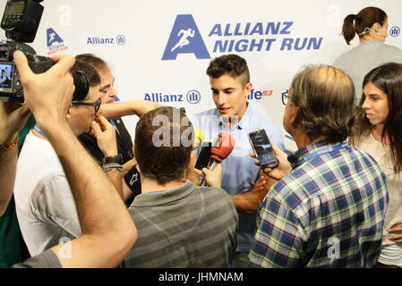 Marc Marquez,Repsol Honda Team Honda, during a press conference of second edition of the 'Allianz Night Run' solidarity - Stock Photo