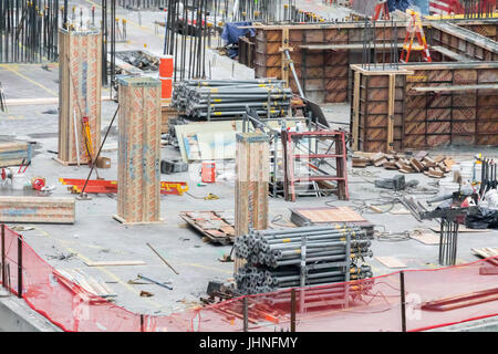 detail of a construction site on the upper west side of manhattan - Stock Photo