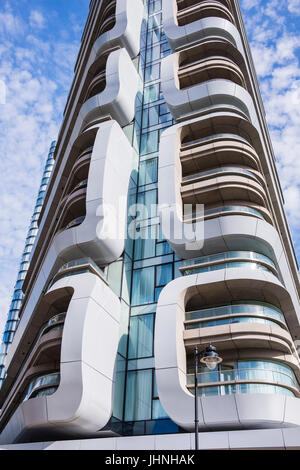 Canaletto residential tower, City Road, London, England, U.K. - Stock Photo