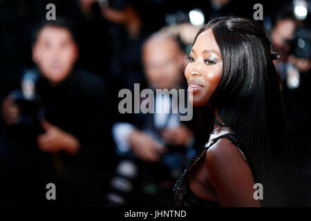 CANNES, FRANCE - MAY 23: Naomi Campbell attends the 70th Anniversary of the 70th Cannes Film Festival on May 23, - Stock Photo
