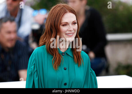 CANNES, FRANCE - MAY 18: Julianne Moore attends the 'Wonderstruck' photo-call during the 70th Cannes Film Festival - Stock Photo