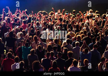 Canada,Quebec,Montreal, Montreal Jazz Festival, concert crowd - Stock Photo