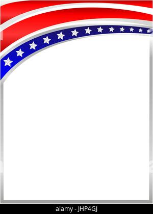 American flag wave frame with empty space for your text and images ...