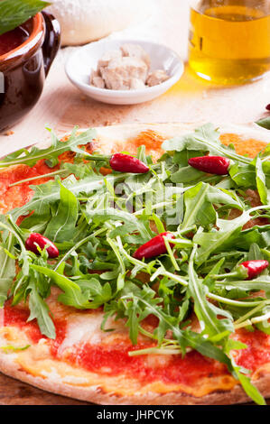 Rocket Parma Pizza - Stock Photo