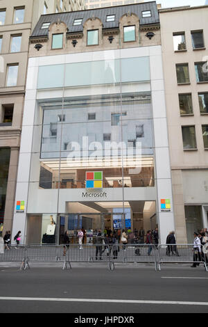 microsoft new york city flagship store fifth avenue New York City USA - Stock Photo