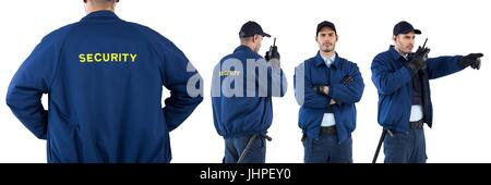 Digital composite of Security guard man collage - Stock Photo