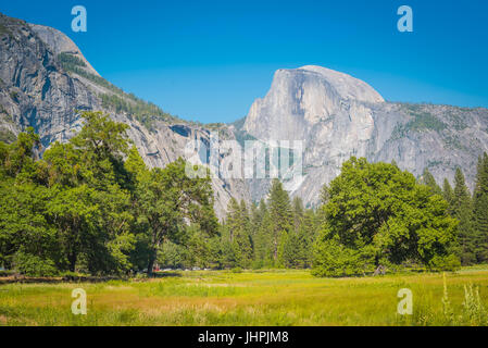 yosemite national park El Capitan with the Merced river flowing through the Yosemite Valley Yosemite National Park - Stock Photo
