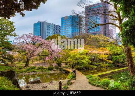 The Koishikawa Kōrakuen Gardens in Bunkyo, Tokyo, Japan. - Stock Photo