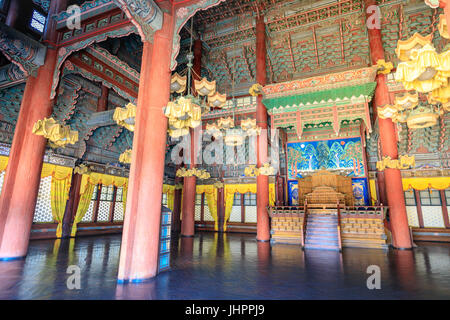 King's Hall of Changdeok Palace  on Jun 17, 2017 in Seoul, republic Korea, Korea traditional architecture of Joseon - Stock Photo