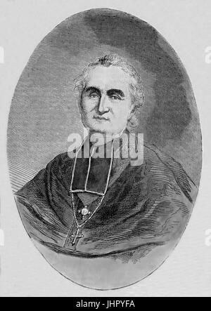 Felix Dupanloup (1802-1878). Mgr.Felix Dupanloup. French ecclesiastic, Bishop of Orleans and member of the Académie - Stock Photo
