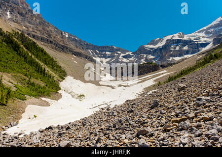 Beautiful mountain landscapes from hiking the Stanley Glacier trail Kootenay National Park B.C. Canada - Stock Photo