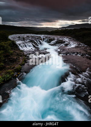 Bruarfoss in Iceland - Stock Photo