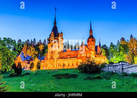 Peles, Sinaia. Romania, Prahova county. - Stock Photo