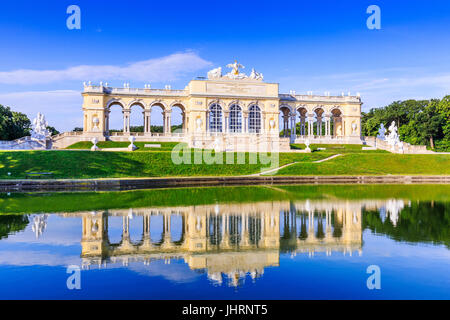 Vienna, Austria. The Gloriette pavilion in the Schonbrunn Palace Garden - Stock Photo