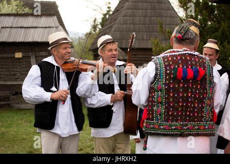 Folk Festival at Sighetu Marmatiei, Maramures District, Romania - Stock Photo