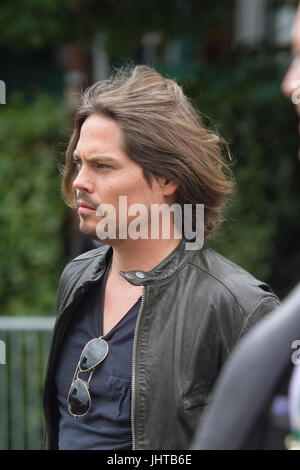 London UK. 16th July 2017. A spectator with a strong resemblance of American actor Johnny Depp arrives at the All - Stock Photo