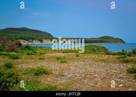 PRIMORYE TERRITORY, RUSSIA – JUNE 29, 2017: Sea of Japan coast at the Sikhote-Alin Nature Reserve in Russian Far - Stock Photo