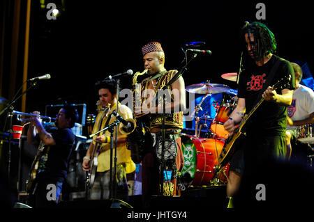Angelo Moore Fishbone (c) NOFX perform Vans Warped Tour 15th Anniversary Celebration Club Nokia September 6,2009 - Stock Photo