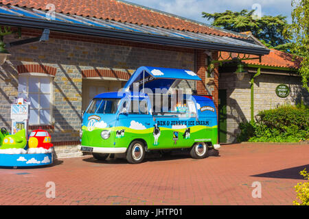 VW camper converted into an Ice cream van - Stock Photo