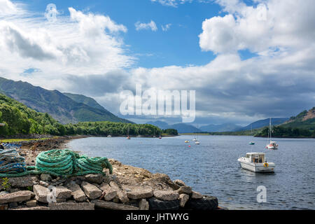 Loch Leven (Loch Lyon), a sea loch near the village of Glencoe, Scottish Highlands, Scotland, UK - Stock Photo