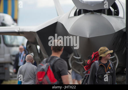 The 2017 Royal International Air Tattoo, RIAT17, RAF Fairford, Gloucestershire, England - one of the world's largest - Stock Photo
