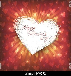 Happy Valentines day, vector illustration - Stock Photo