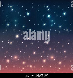 Night sky with stars, EPS10 - Stock Photo