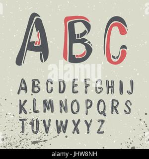 Hand Drawn Alphabet - Stock Photo