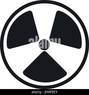 radiation symbol. - Stock Photo