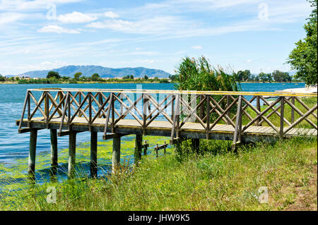 River Ebre, Deltebre, Delta se lEbre, Eastern Spain - Stock Photo