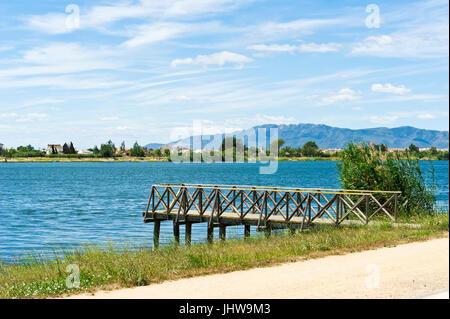 River Ebre, Deltebre, Delta se lEbre, Eastern Spain - Stock Photo