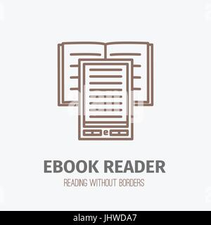 Thin lined ebook reader. - Stock Photo