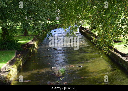 The river flowing through Strathaven - Stock Photo