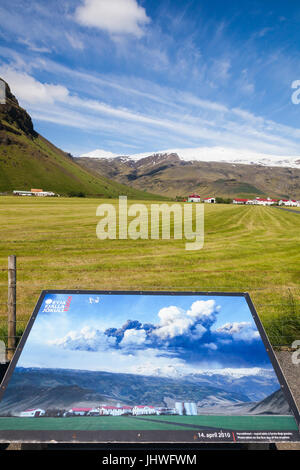 Family farm in the shadow of the Eyjafjallajokull volcano which erupted in April 2010 - Stock Photo